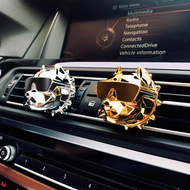 Creative Bulldog Diffuser Car Decor Factory Price Bulldog Car Perfume Fragrance Clip Auto Vent Air Freshener Scent Parfum