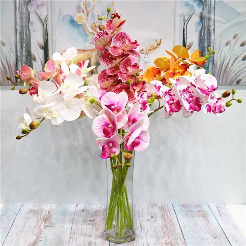 Borboleta artificial 3d orquídea, flores de orquídea flor de traça falsa para decoração de casa casamento diy toque real para decoração de casa|Flores secas artificiais|   -