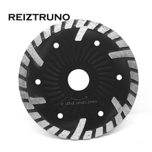 REIZTRUNO 125mm Wave Core Turbo Diamond Saw Blade Wet/Dry Circular for Grinder - Concrete Stone Masonry and Materials