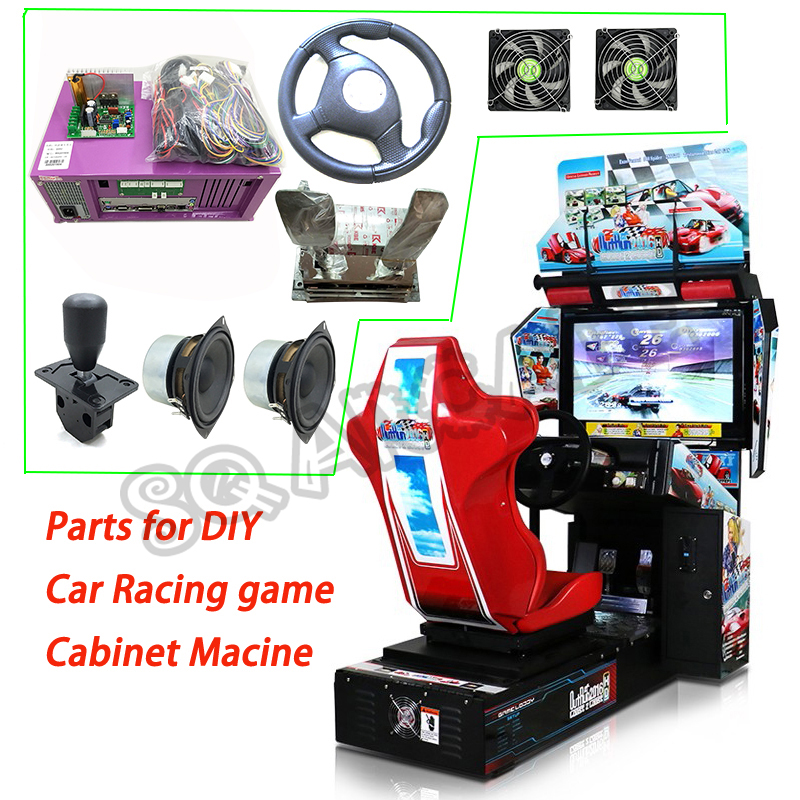 outrun Coin Operated Video Arcade Machine Driving Simulator Car Racing Games arcade full kit main board+cable+Dynamic card etc image