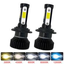 Muxall LED Mini reflektor samochodowy 80W 16000LM 4 boczne chipy żarówka samochodowa H4 H11 H4 H7 9007 9005 9006 6000K światła przeciwmgielne dla reflektor samochodowy tanie tanio NONE CN (pochodzenie) Universal car models 12 v 6500 k 16000Lms 4sides 30000hours Motorcycle Headlight Light Sourcing Car Headlight Fog Light
