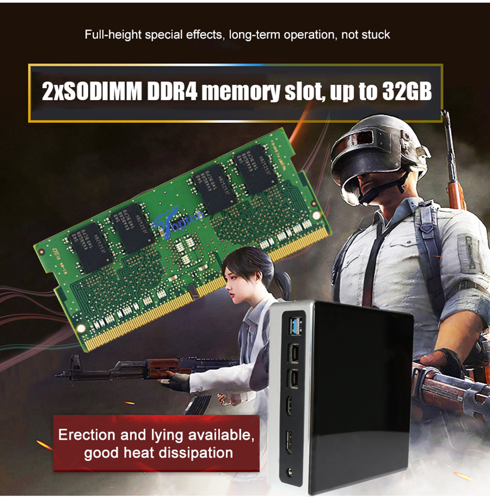 New Release 10th Gen Mini PC Intel i7-10710U i5-8250U 6*Core 2*DDR4 M.2 NVMe NUC Computer Windows 10 Linux WiFi USB-C DP HDMI PC-4