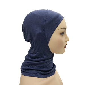 Image 2 - 1 sztuk wewnętrzne czapki pod kobietami hidżab islamska muzułmańska chusta modalne Stretch Cap muzułmańska chustka na głowę kości Bonnet szyi obejmujące szalik