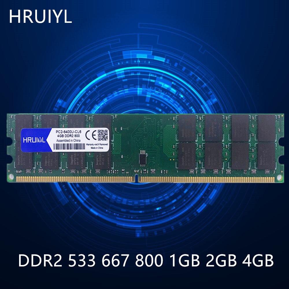 Hruiyl memória ddr2 1gb 2gb 4gb 1.8v canal duplo memória varas 533 667 800mhz PC2 4200 5300 6400 pc placa mãe memoria|RAM|   - AliExpress