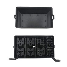12-Slot Relay Box 6 Relays 6 Atc/Ato Fuse Holder Block + Metallic Pins for Automotive Accessories(China)