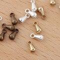 50 шт./лот 3*6 мм латунь капли воды кулон Маленькие подвески для DIY серьги изготовление ювелирных изделий принадлежности аксессуары фурнитура ...