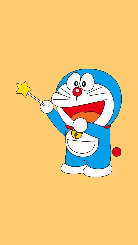 哆啦A梦壁纸:可爱哆啦A梦蓝胖子手机壁纸插图3