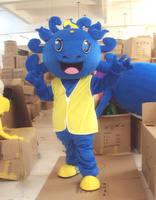 Blue Dinosaur Dragon Mascot Costume Suits Cosplay Party Dress Outfits Clothing Advertising Promotion Carnival Halloween Adults