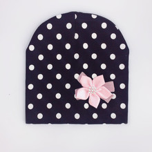 brand baby girl hat cap bow tie dot cotton flower beanie for girls Butterfly Knot Melamed bonnet 6 months-4 years