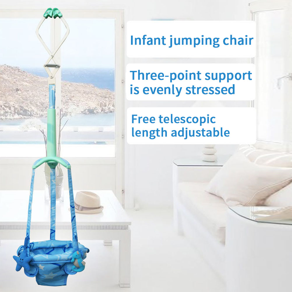 Indoor Activity Adjustable Assistant Toys Learning Exercise Baby Doorway Jumper Hanging Seat Swing Walker Safety Bouncing Infant