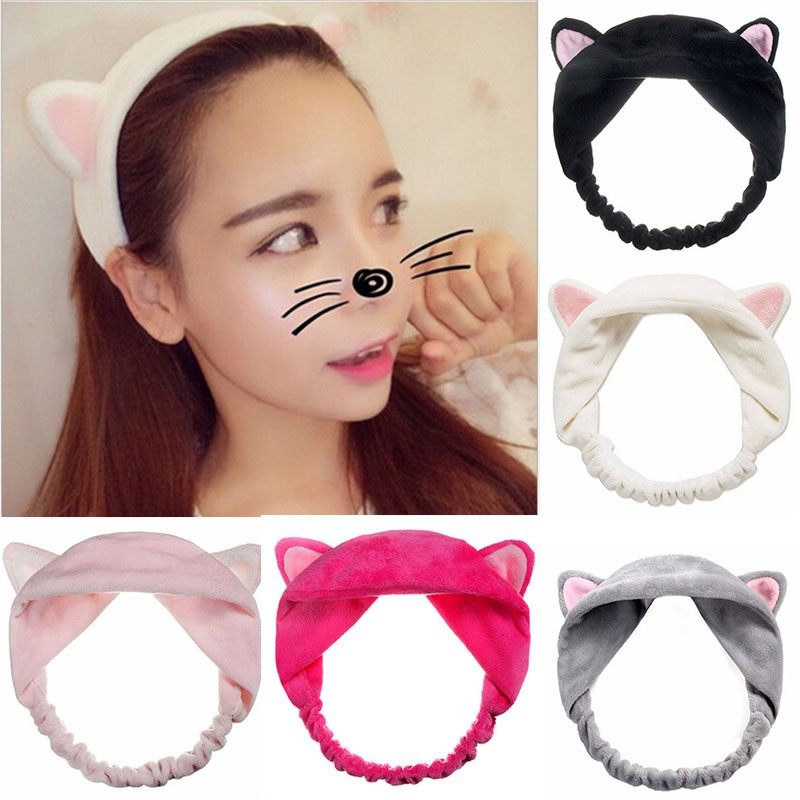 Wash Face Hair Holder Hairbands Soft Animal Ears Headband For Women Girls Turban Fashion Hair Accessories