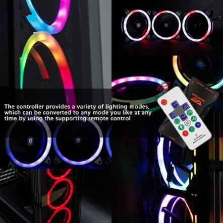 Aigo DR12 Pro Aura Sync Computer Case Cooling Fan Rgb Passen Led 120Mm Dubbele Halo Pc Argb Computer Koeler cooling Rgb Case Fan