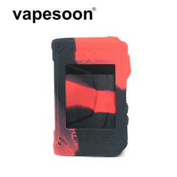 Kolorowe silikonowe etui pokrowiec pokrywy ochronne skóra dla geekvape aegis X box mod 200W zasilany Vape tanie i dobre opinie VapeSoon Silicone Case Krzemu 92x35x60mm