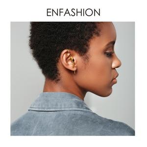 Image 5 - ENFASHION Punk Waveต่างหูสตั๊ดสำหรับผู้หญิงคำอธิบายสีทองGeometric Curveต่างหูแฟชั่นเครื่องประดับOorbellen EC1070
