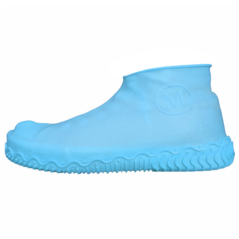 Unisex Wear Resistant Waterproof Shoe Protector Made of Silicone Material with a Non Slip Textured Sole for Outdoor in Rainy Days 13