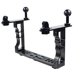 Aluminum Alloy Diving Underwater Tray Kit Light Extension Arm Bracket System,with Handle Grip Stabilizer Rig
