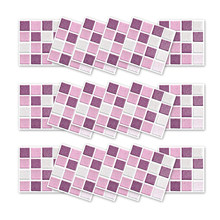 18x Mosaic Stick Adhesive Wall Tile Stickers Waterproof Kitchen Bathroom Decor(China)