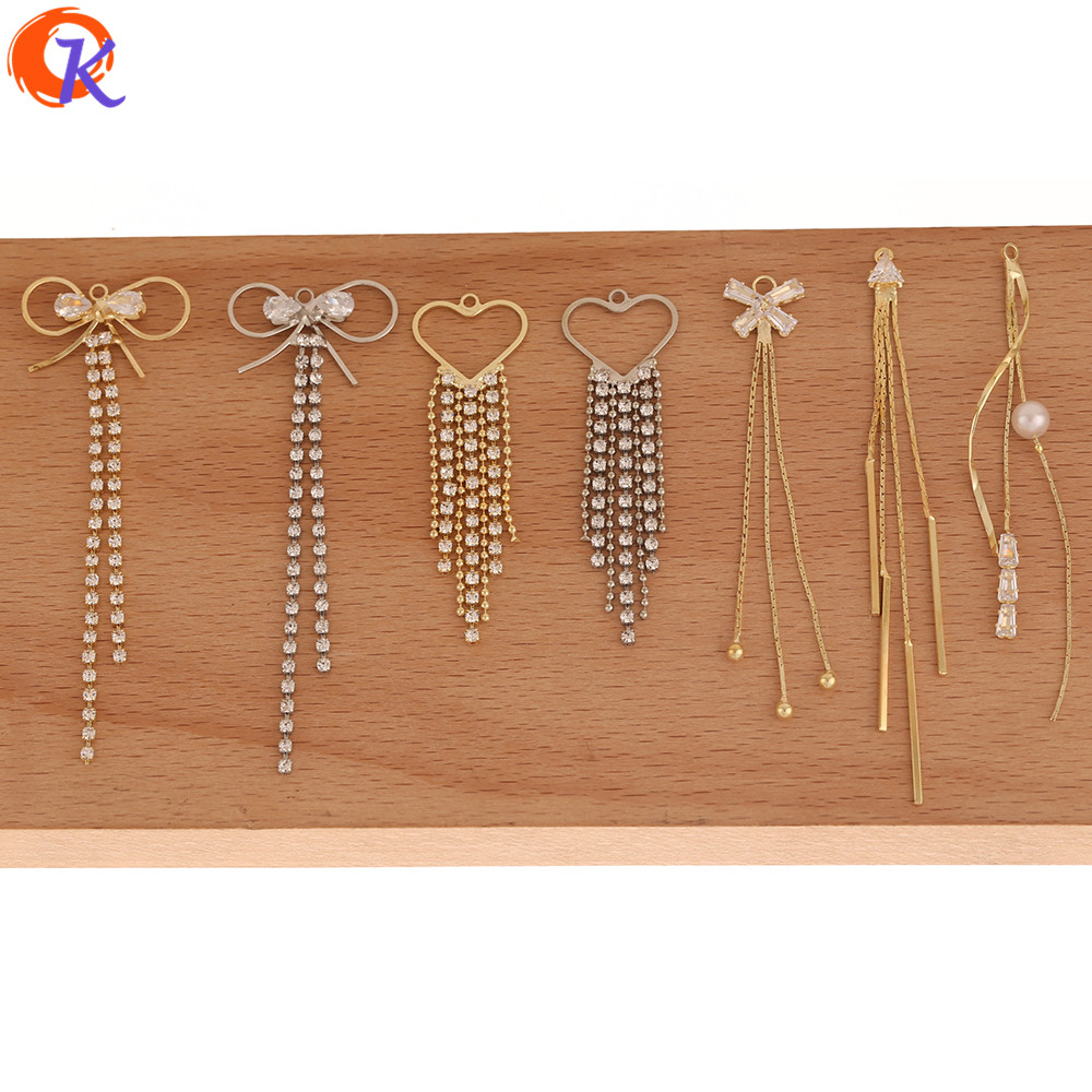 Cordial Design 50Pcs Connectors For Earrings/Jewelry Accessories/DIY Charms/Rhinestone Claw Chain/Hand Made/Earring Findings