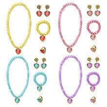 Chritmas presentes para crianças acessórios vestido colar pulseira presentes da menina crianças jóias presente para a menina aniversário presentes de natal