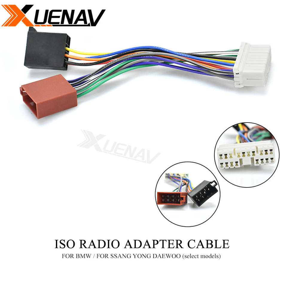 12 105 ISO Radio Adapter for BMW for SSANG YONG DAEWOO Wiring Harness  Connector Lead Loom Cable Plug|Cables, Adapters & Sockets| - AliExpresswww.aliexpress.com
