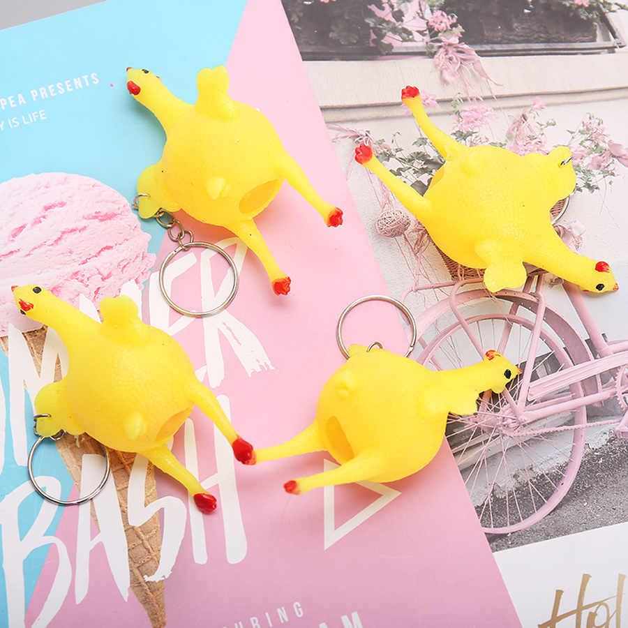 2 шт./партия кляп игрушечный цыпленок брелок в форме куклы практичные приколы приспособления для трюков забавные подарки на Хэллоуин креативные животные