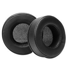 Coussinets d'oreille ronds de remplacement, 60MM 65MM 70MM 75MM 80MM 85MM 90MM 95MM 100MM 105MM 110MM, en mousse à mémoire de forme