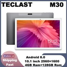 Tablets Teclast M30 10.1 inch 4G Phablet 2560 x 1600 Android 8.0 4GB RAM 128GB ROM MT6797 X27 Deca Core 7500mAh GPS Dual