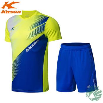 Kason nowa sportowa koszulka z krótkim rękawem do szybkiego suszenia tkanin koszula męska spodenki Badminton odzież garnitur FATN001-1 tanie i dobre opinie