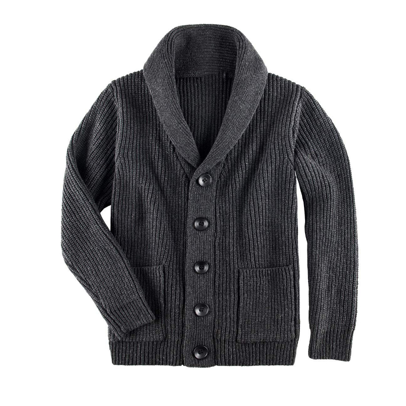 Men's Sweater Autumn Winter Warm Knitted Cardigan Sweaters Single-breasted Thick Casual Outwear Coats Men With Pockets
