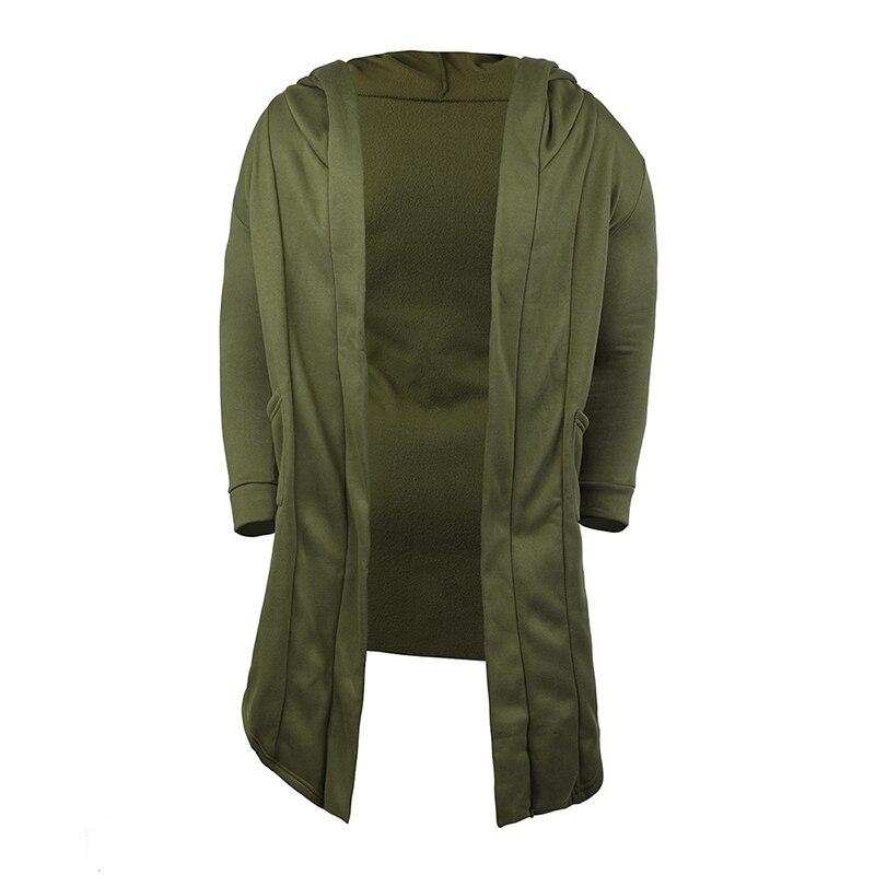H37d02e3cefd84e339cb5d7f10c087584b Vintage Men Autumn Winter Hoodies Jacket Long Cardigan Coat Casual Hip Hop Solid Pocket Jacket Hooded Outwear Veste Homme