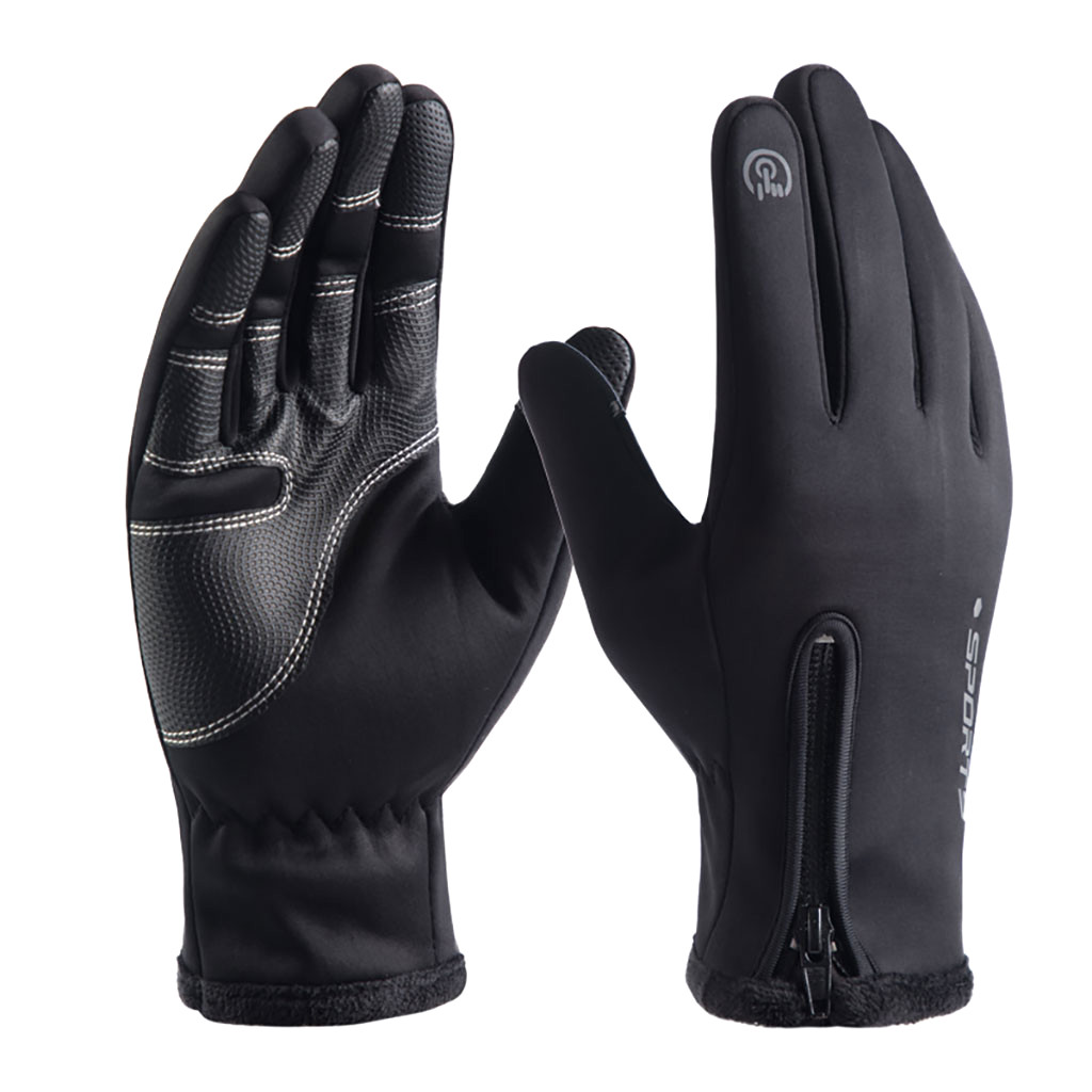 Outdoor Gloves Warm Mittens Touch-Screen Waterproof Winter Men Unisex Thicken 4 title=