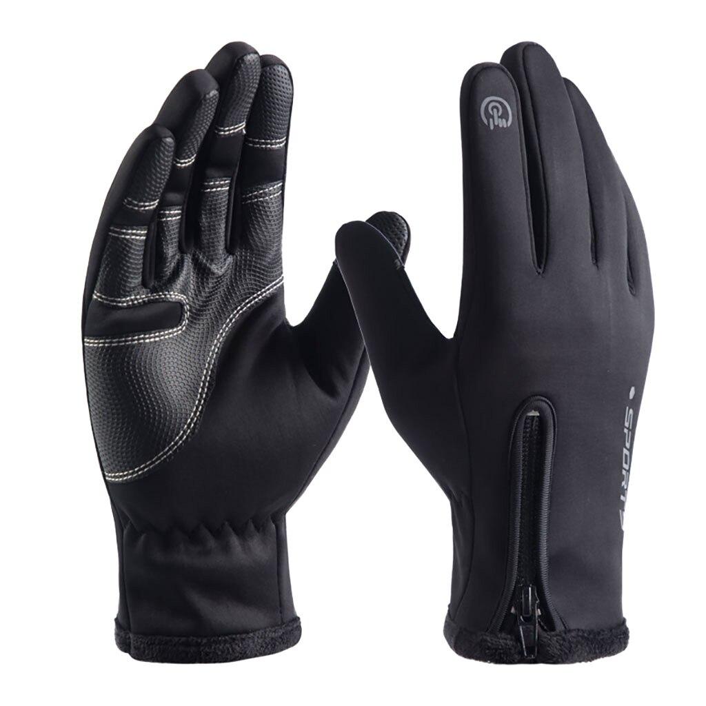 Waterproof Winter Warm Gloves Windproof Outdoor Gloves Thicken Warm Mittens Touch Screen Gloves Unisex Men Sports Glove #4