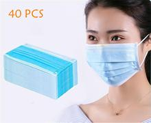40CS Prevent Bacteria Mouth face Mask Earloops-Mask formaldehyde Non Woven Disposable Anti virus bad smell Bacteria Mask kimberly clark childs face mask w stretchable earloops 75 box latex free