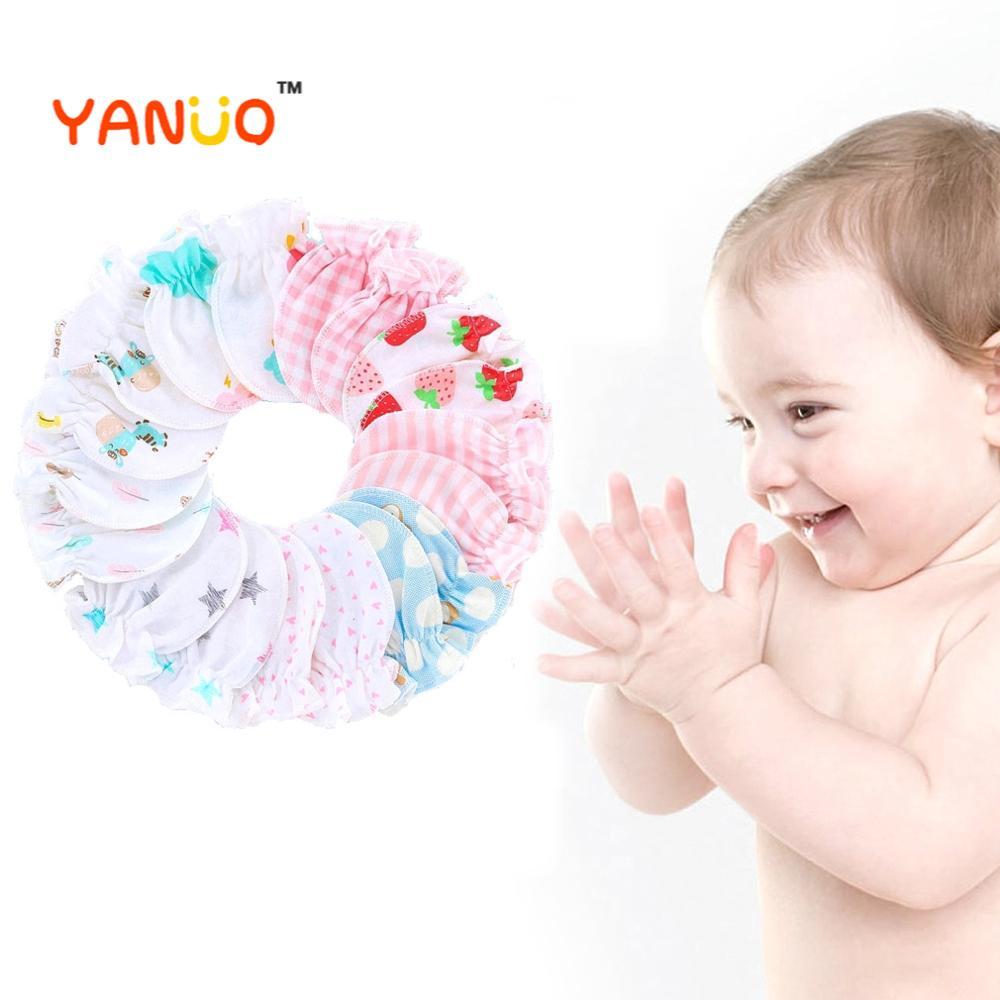 5 шт./компл. детские хлопчатобумажные перчатки, носки с забавными рисунками для новорожденных и малышей, дышащие, мягкие, удобные, перчатки д...