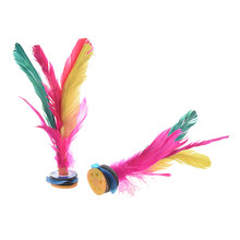 Pluma de colores calientes Kick shuttleck chino Jianzi 2 uds(China)