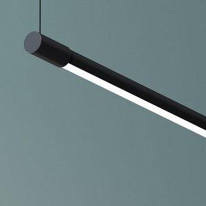 Image 3 - מינימליסטי LED תליון מנורות לסלון מסעדה שינה בית תליית מנורת נורדי אלומיניום שחור אמנות ארוך Pendnat אורות