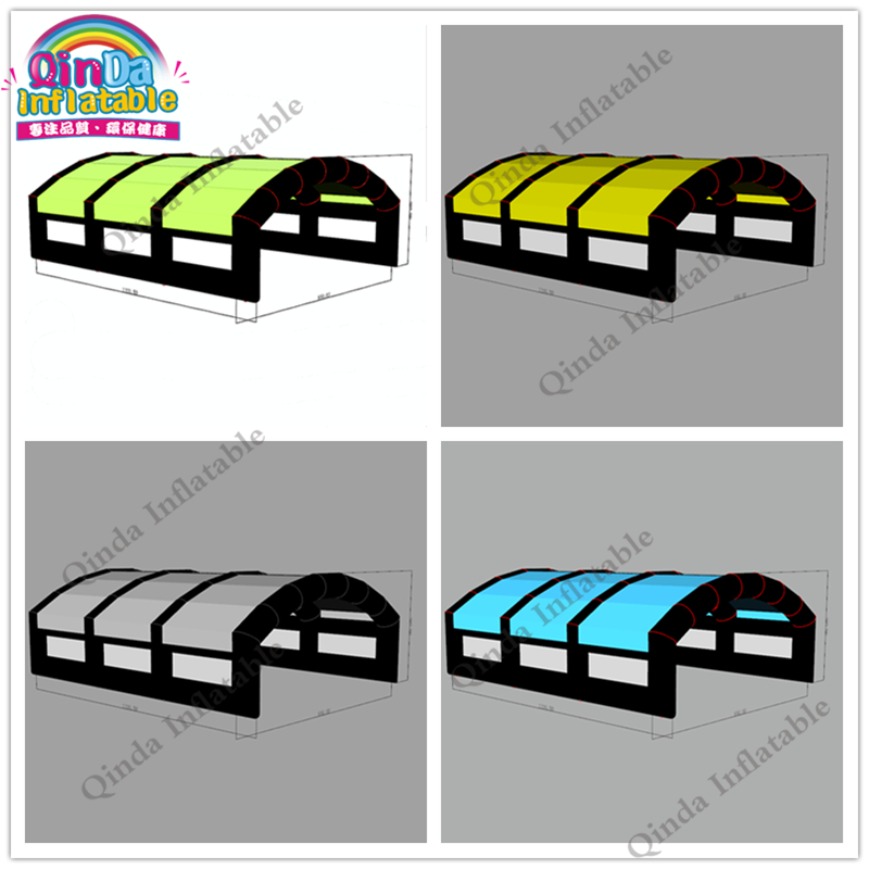 Mobile Inflatable Canopy / Tent Trade Show Inflatable Marquee,11x8.5x4m Inflatable Arch Tent For Outdoor Event