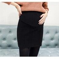 Одежда для беременных женщин; сезон осень-зима; шерстяная юбка для беременных; Корейская версия юбки для беременных женщин