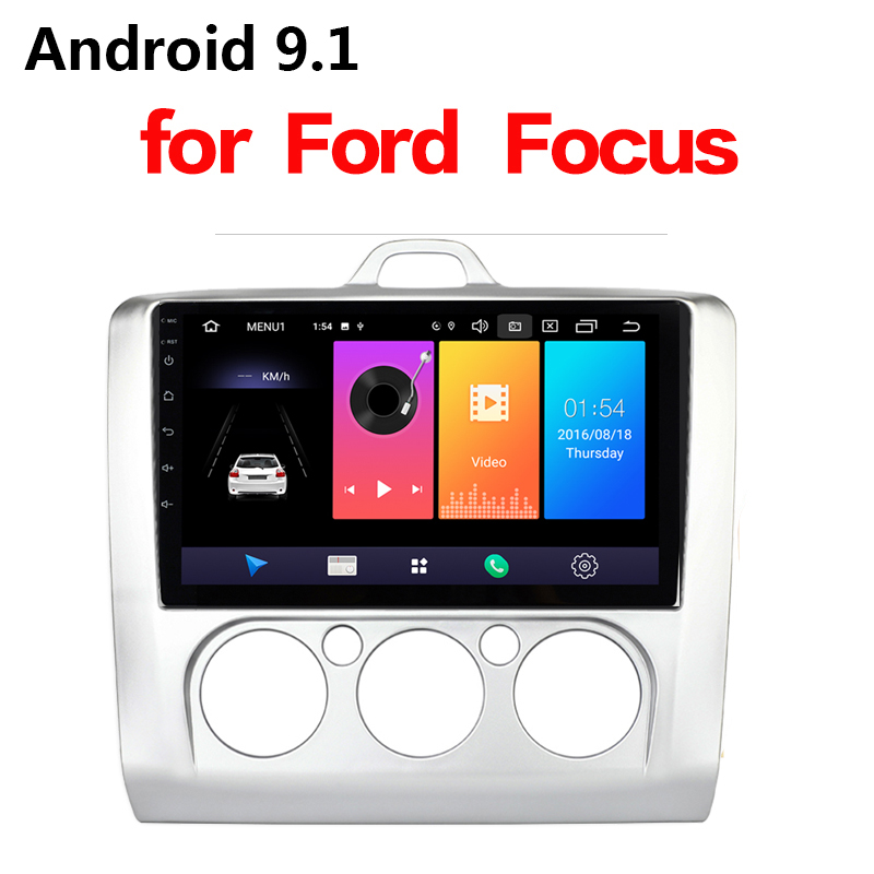 9 zoll <font><b>Android</b></font> 9.1 Auto Radio <font><b>2Din</b></font> GPS Multimedia-Player Für <font><b>Ford</b></font> Focus EXI MT 2 3 Mk2 2004 2005 2006 2007 2008 2009-2011 keine DVD image