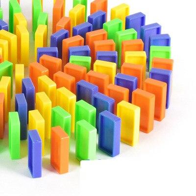 Автоматический домино для укладки кирпича игрушечный поезд автомобиль со звуковым светом лифт пружинный мост катапульта набор домино подарок для детей - Цвет: only 40pcs blocks