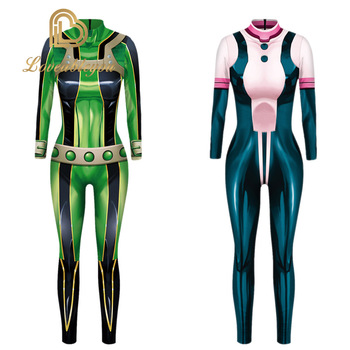 My Hero Academia Froppy Tsuyu Asui Cosplay Costume Spandex Zentai Suit Women Girls Bodysuits Halloween Kids and Adults