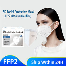 5 Layers FFP2 MASK CE Mask fpp2 Approved kn95 Mascarillas Masks Kn95 Certified Black Mouth Caps Mask KN95 Respirator FFP2MASK