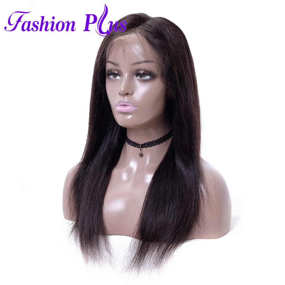 Full Lace Human Hair Wigs For Black Women Straight Brazilian Wigs Remy Hair Bleached Knots 150% Density Full Lace Wigs For Women