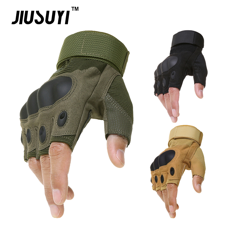 Tactical Gloves Military Army Bicycle Combat Paintball Airsoft Work Fingerless Shooting Combat Hard Knuckle Half Finger Gloves