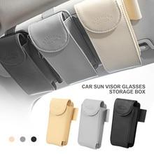 Lederen Auto Zonneklep Point Pocket Organizer Bag Kaart Bril Opslag Houder Auto Styling Ic Kaarthouder Zonnescherm Tas