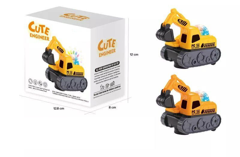 Children Model Electric Engineering Car Excavator Light Included Light Music Toy Car Universal Traveling Car Model