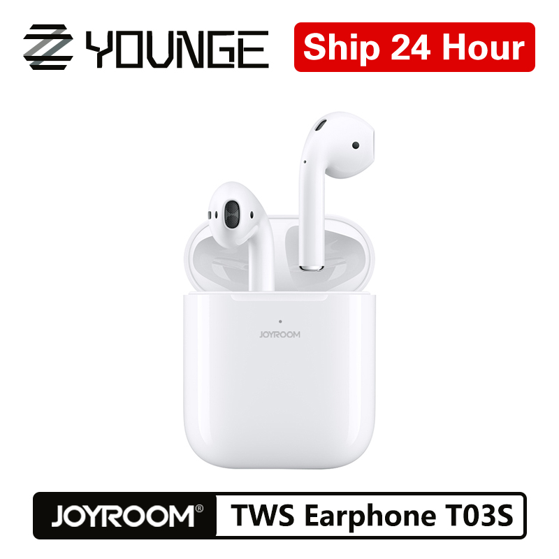 Joyroom T03S Wireless Earphones Bluetooth 5.0 In-Ear With Pop-Up Window Headset Wireless Charger Touch True TWS Binaural Earbuds