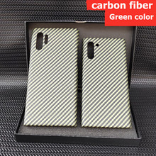 Special design green carbon fiber case For samsung galaxy note 10+ plus Protective bumper shell