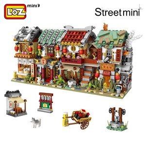 Image 2 - Мини конструктор LOZ, китайская уличная китайская традиция, специальная модель «сделай сам», сборные игрушки для детей, Образовательное аниме