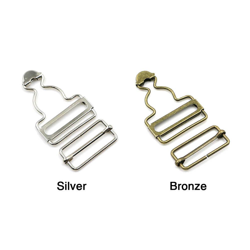 2 unids/set pantalones Clips de abrazadera botón de Metal botón Ajustar accesorios de costura Denim remaches Correa ropa tirantes hebilla